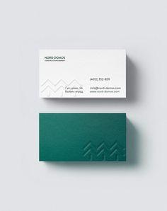 Nord Domos by Anton Burmistrov, via Behance Professional Business Card Design, Minimal Business Card, Elegant Business Cards, Free Business Cards, Letterpress Business Cards, Business Card Logo, Stationery Design, Branding Design, Identity