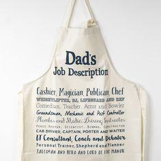 Dad's Job Description Apron