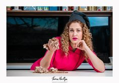 Commercial photoshooting with pastry cook Nektaria Kyriakopoulou.