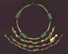 Roman jewellery found in Kent.  Emeralds, gold, and garnets.  Canterbury Archaeological Trust – Roman discoveries in Kent
