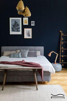 navy blue bedroom french decor decoration layout attic colour schemes
