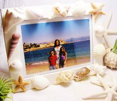 Sea Shell Beach Picture Frame White  5 x 7 by BeachCottageBoutique, $28.95