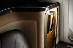 Luxury storage detailing - British Airways new concept First Class cabin within the Boeing 787-9. Designs currently feature on the Martyn White Designs blog.