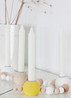Hvite tulipaner: DIY: Candleholder