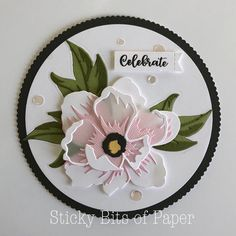 Sticky Bits of Paper Make. - Sticky Bits of Paper Make…. Handmade Birthday Cards, Greeting Cards Handmade, Flower Cards, Paper Flowers, Paper Peonies, Poppy Cards, Altenew Cards, Die Cut Cards, Stamping Up Cards