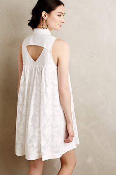 Laced Poplin Swing Dress - anthropologie.com