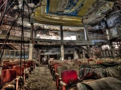 abandoned theater in Russia, probably