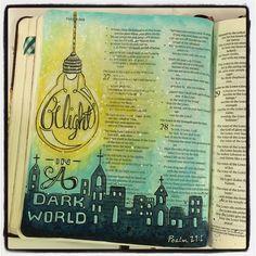 "Melissa @fischtales Psalm 27:1 ""...Instagram photo | #illustratedfaith #journalingBible"