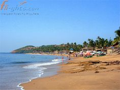 The atmosphere of Baga Beach is very eventful in the evening with serene surroundings and bonfires. The Baga Beach is situated in the beach city of Goa.