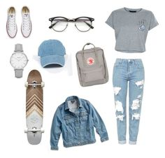 ➰BTS OOTD➰ by queenmgt on Polyvore featuring polyvore, fashion, style, New Look, Lucky Brand, Topshop, Converse, Fjällräven, ZeroUV and clothing