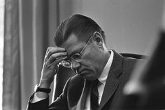 Robert Strange McNamara (1916-2009) Eighth Secretary of Defense, serving under Presidents Kennedy and Johnson from 1961 to 1968, during which time he played a large role in escalating the United States involvement in the Vietnam War.