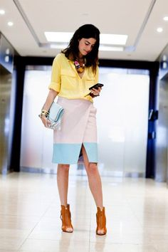 Love this look! Leandra Medine (The Man Repeller) for ELLE. Leandra Medine, Office Fashion, Work Fashion, Office Wear, Office Attire, Office Chic, Mode Outfits, Look Chic, Mode Inspiration