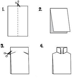 Схема изготовления открытки-рубашки