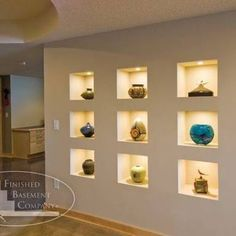 Image result for recess in plasterboard wall for art