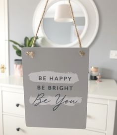 A perfect gift for someone special, or hang in your own home as a little reminder for yourself! Measure approx x Own Home, Happy, Gifts, Presents, Favors, Gift