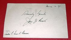 Johnny Evers Double Signed Hall of Famer Postard 1939 Tinkers to Evers to Chance $4000 or Best (serious) offer