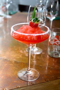 Mickey Finn Strawberry Margarita