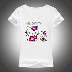 2017 New Lovely Hello Kitty cartoon t shirts women summer cool cute shirt Brand Good quality comfortable casual tops F58 //Price: $16.59 & FREE Shipping // World of Hello Kitty https://worldofhellokitty.com/product/2017-new-lovely-hello-kitty-cartoon-t-shirts-women-summer-cool-cute-shirt-brand-good-quality-comfortable-casual-tops-f58/    #sanrio