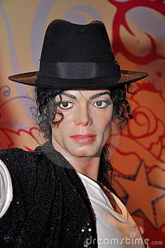 Wax statue of Michael Jackson, was a Hollywood celebrity, actor and singer, image taken at the Madame Tussauds museum at Hollywood, Los Angeles, California.