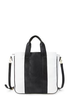 Faux Leather Colorblock Tote | FOREVER21 #Accessories #Handbag