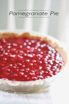 Pomegranate pie... this is crazy delish and so easy!