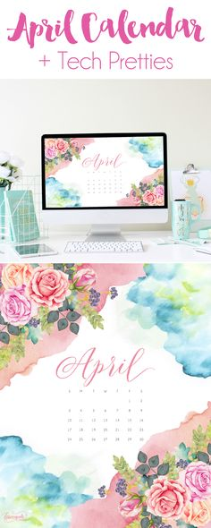 April 2016 Calendar + Tech Pretties | DawnNicoleDesigns.com
