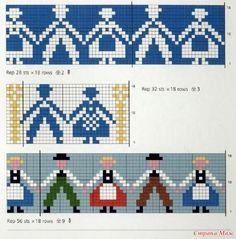 Схемы мотивов (продолжение). Fair Isle Knitting Patterns, Knitting Charts, Knitting Stitches, Cross Stitch Borders, Modern Cross Stitch, Cross Stitch Patterns, Crochet Cross, Crochet Chart, Cross Stitch Embroidery