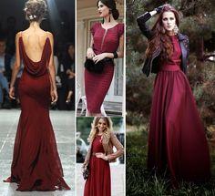Вечерние платья цвета Марсала #marsala #evening_dress