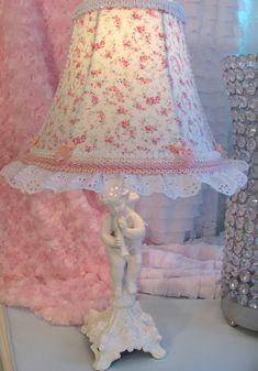 "7"" #Chic #lampshade  w R Aswell Posey #Shabby Fabric Custom | eBay @ www.shabbyshades.com"
