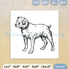 Dog Antique Graphic Digital Printable by VintageRetroAntique