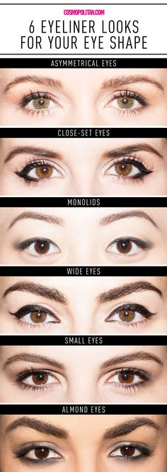 6 Ways to Get the Perfect Eyeliner for Your Eye Shape in One Handy Chart