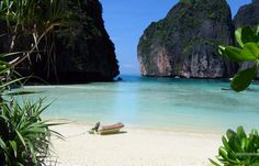 """Ko Phi Phi Leh, Thailand  (location of The Beach, 2000)  """"I still believe in Paradise. But now at least I know it's not some place you can look for, cause it's not where you go. It's how you feel for a moment in your life when you're a part of something, and if you find that moment... it lasts forever..."""""""