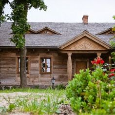 Wooden country house in Poland.