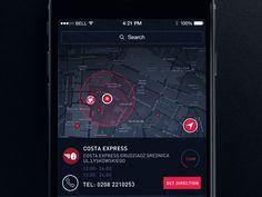 Red iOS map #UI #UX