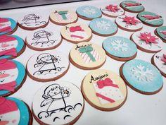 Biscotti decorati Sugar, Cookies, Desserts, Food, Tailgate Desserts, Biscuits, Deserts, Essen, Dessert