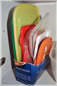 Organizzare contenitori per alimenti