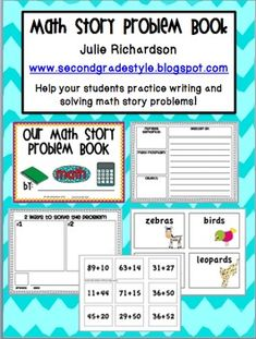 Math Story Problem Book - Get your students writing and solving story problems!