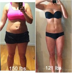 150 to 121 through diet and exercise. Shady diet pill companies steal her picture to advertize their products, but she did this the hard way - not with drugs