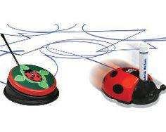 The Color Bug provides the opportunity to color by switch with the remote controlled lady bug. ID# 3488. http://enablingdevices.com/catalog/toys_for_disabled_children/arts-crafts/color-bug