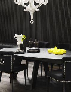 Salle à manger noir - black living room