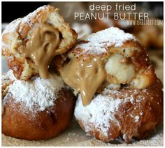 ~Deep Fried Peanut Butter! Whip pb with whipped cream to make more creamier