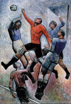 Carlo Carrà: Partita di Calcio (1934) via Artribune