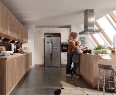 Moderní designová kuchyně Mia. Kuchyně a spotřebiče jedné značky - gorenje. #kuchyně #design #interiér #domov #gorenje Home Kitchens, Divider, Room, House, Furniture, Home Decor, Functional Kitchen, Family Kitchen, Photo Galleries