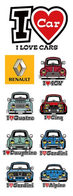 I LOVE RENAULT Illustrations were respect of Dave Deal's by mashimarokun