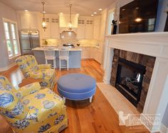The Seaside Hearth Room & Kitchen. The home won best interior features and best floor plan. Kitchen Hearth Room, Room Kitchen, Lexington Furniture, Keeping Room, Kitchen Chairs, Model Homes, Best Interior, Kitchen Remodel, New Homes