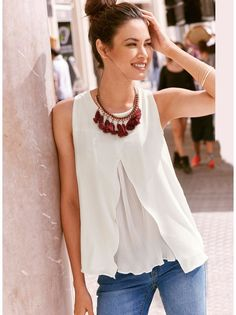 Shop sexy club dresses, jeans, shoes, bodysuits, skirts and more. Summer Fashion Outfits, Boho Fashion, Womens Fashion, Casual Chic, Style Désinvolte Chic, Creation Couture, Shirt Skirt, Stylish, Daily Look