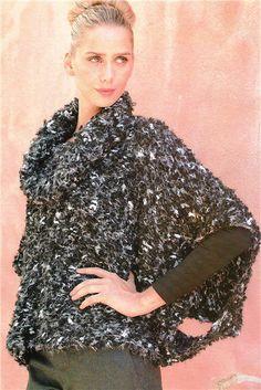 poncho facil cuello alto Yarn Over, Knitting Patterns, Knit Crochet, Victoria, Album, Lace, Clothes, Women, Glamour