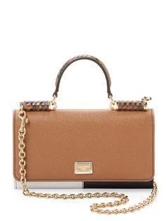 Von Mini Colorblock Leather Satchel by Dolce & Gabbana at Gilt