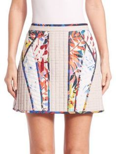 Andrick Quilted Patchwork Miniskirt $79.50 Bohemian Goddess Mini