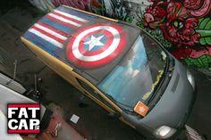 Marvel Van Roof Cardiff Wales Captain America